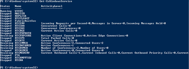 Get-CsWindowsService