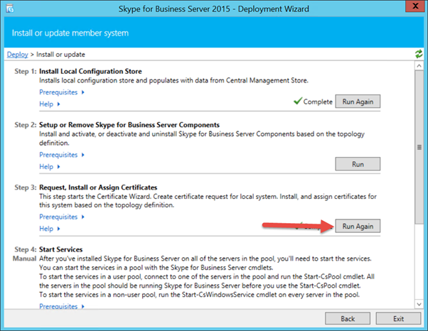 Skype for Business Server Deployment Wizard