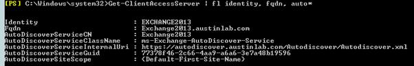 Get-ClientAccessServer Exchange 2013 Autodiscover