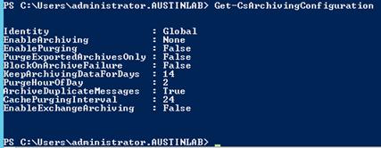 Get-CsArchivingConfiguration