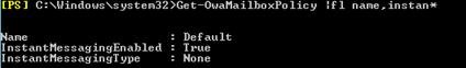 Get-OwaMailboxPolicy
