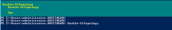 Enable-CsTopology